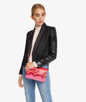 KARL LAGERFELD K/SIGNATURE GLAZE SHOULDERBAG