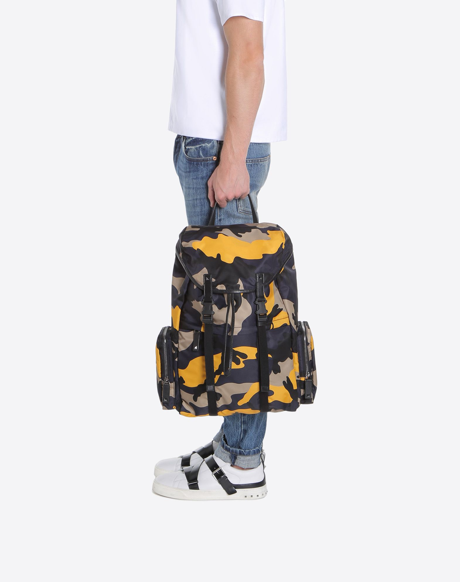 VALENTINO GARAVANI UOMO Camouflage Large Backpack Backpack U a