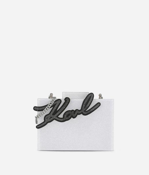 KARL LAGERFELD K/Signature Shine Minaudiere  12_f