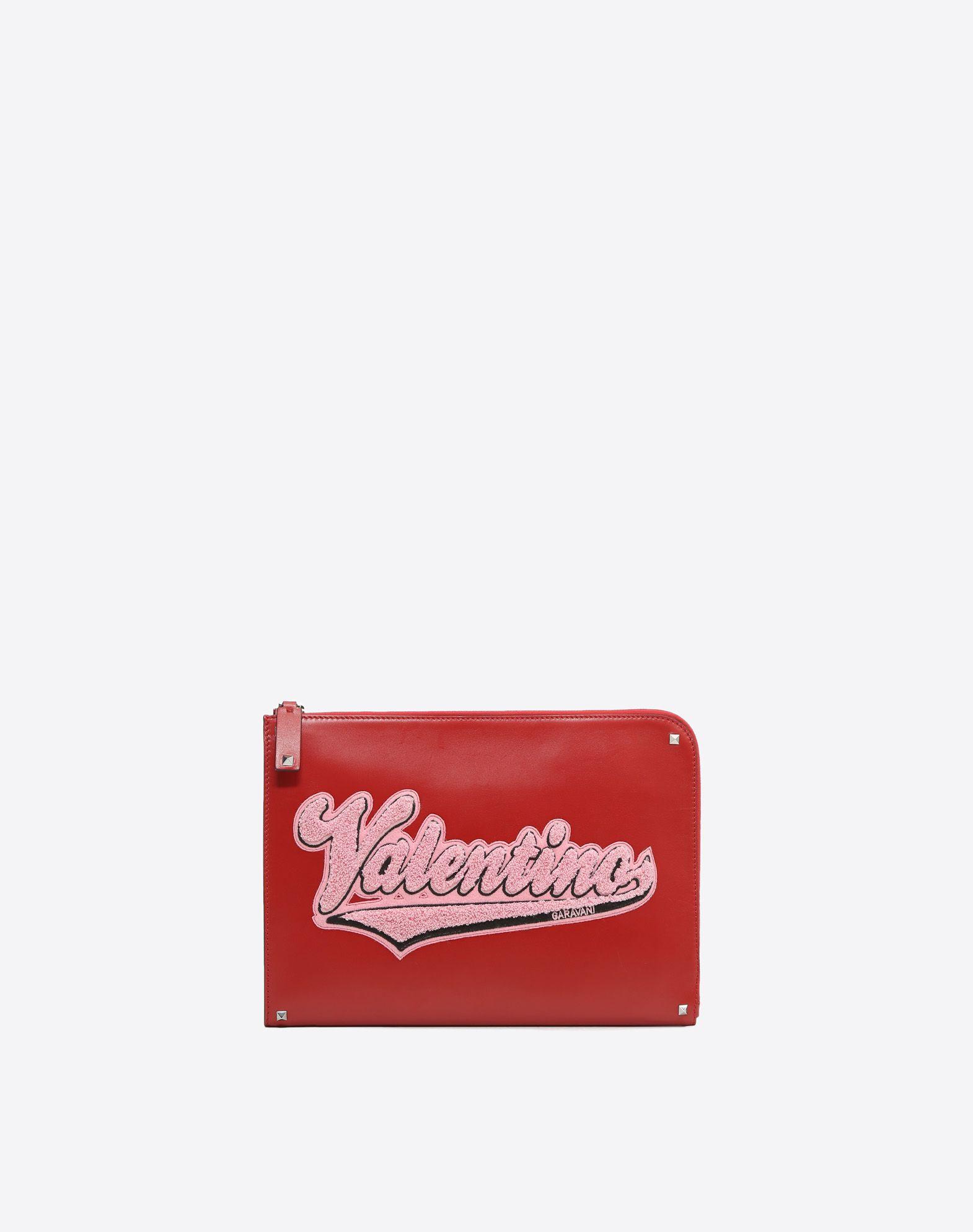 VALENTINO Logo Studs Contrasting applications Zip Internal pockets  45387950ri