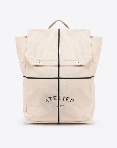"MAISON MARGIELA Backpack U ""Atelier"" print backpack f"