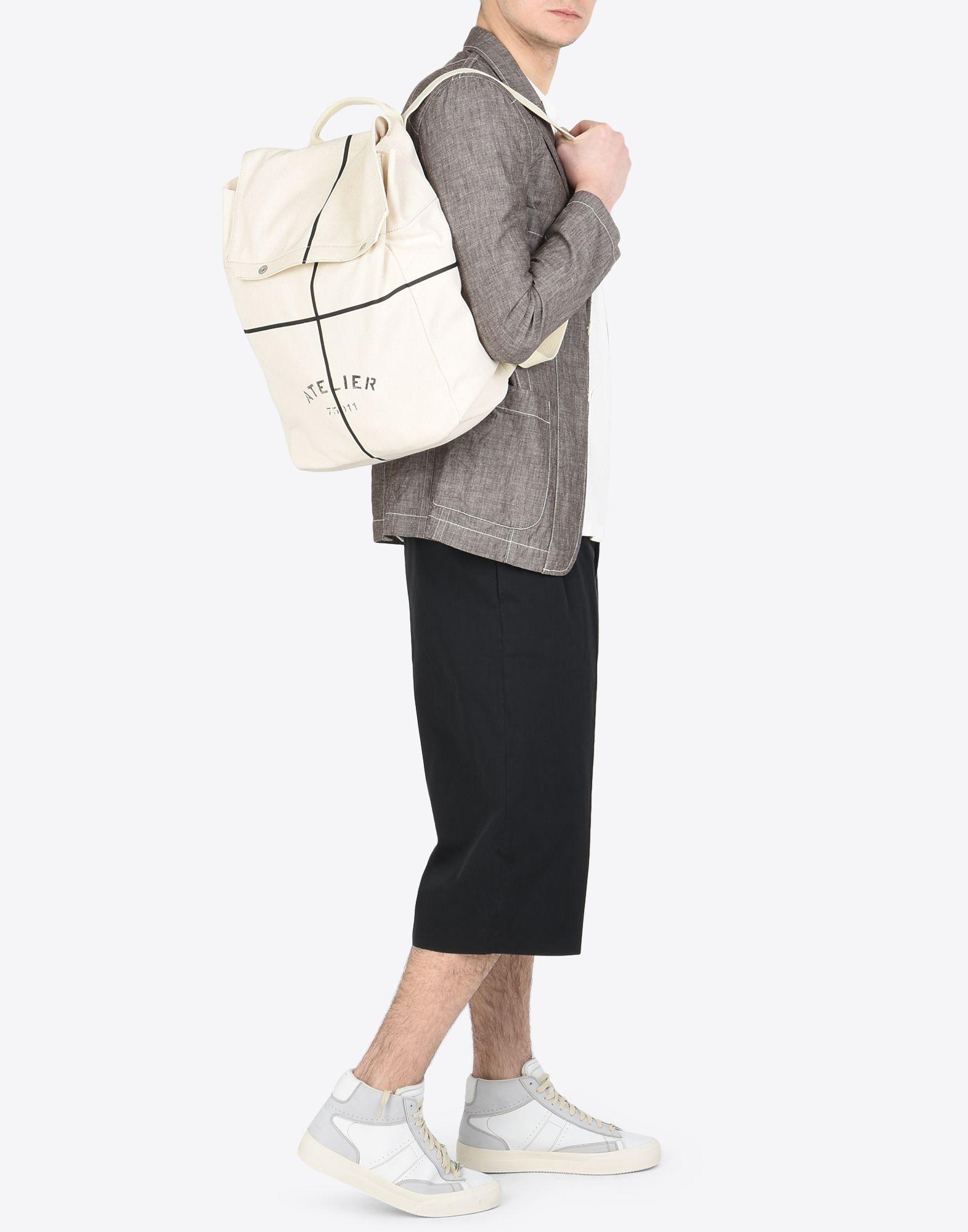 "MAISON MARGIELA ""Atelier"" print backpack Backpack Man b"