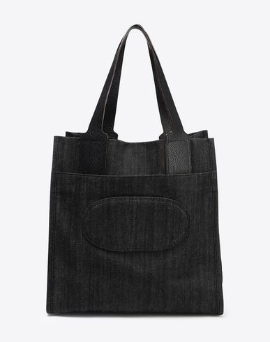 MAISON MARGIELA Tote U Cotton bag with leather straps f