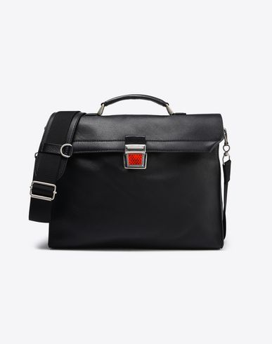 MAISON MARGIELA Shoulder bag U Calfskin briefcase with reflective detail f