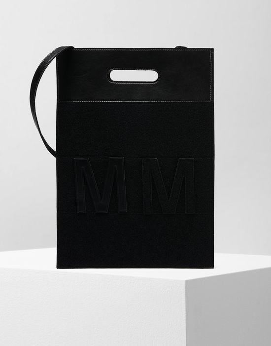 Mm6 Maison Margiela Logo Shoulder Bag Woman F