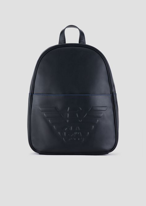 2904a11c6b Backpack in bovine leather with all-over logo print.   695. BACKPACK WITH  MAXI LOGO