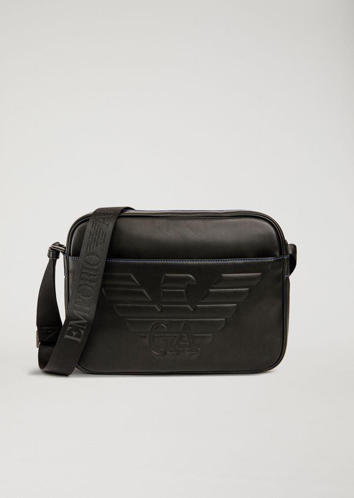 e8f5e74b2562b CROSSBODY BAG WITH MAXI LOGO   Man   Emporio Armani
