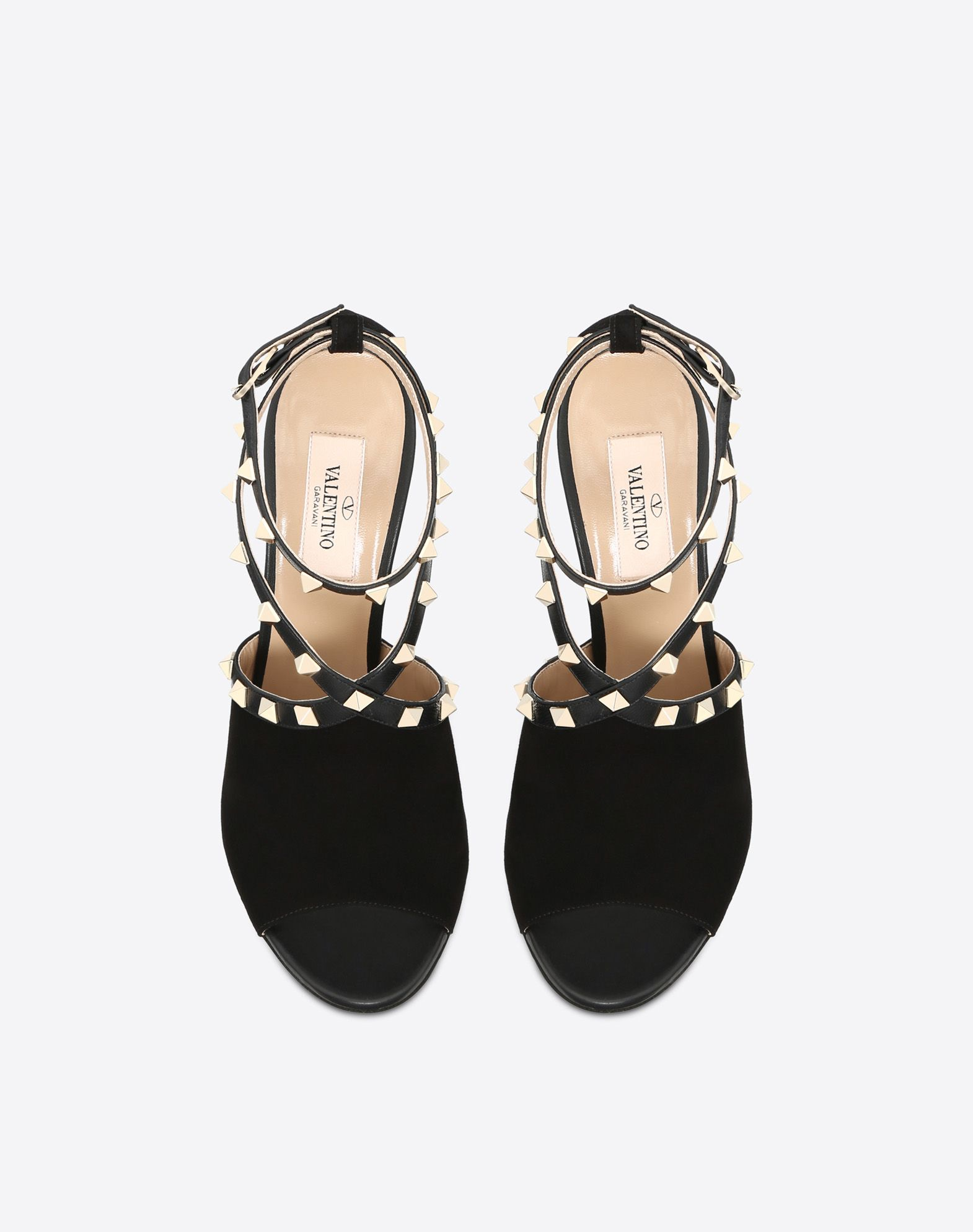 VALENTINO Studs Solid colour Leather sole Buckle  45388161br