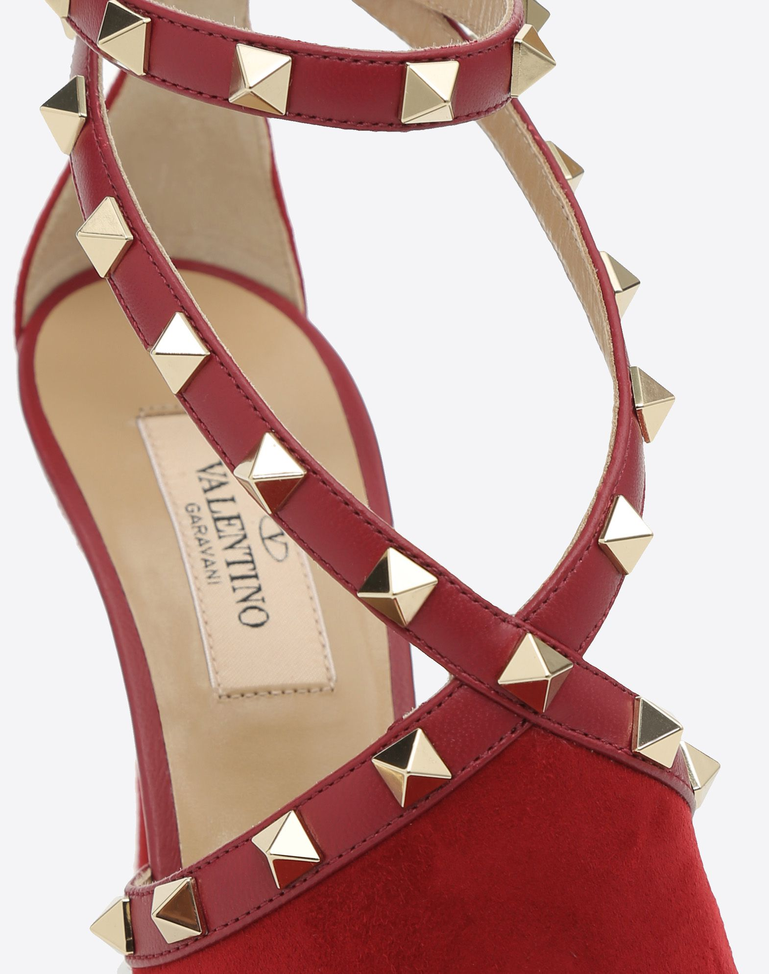VALENTINO Suede effect Round toeline Solid color Leather sole Buckling ankle strap closure Spike heel  45388164ev