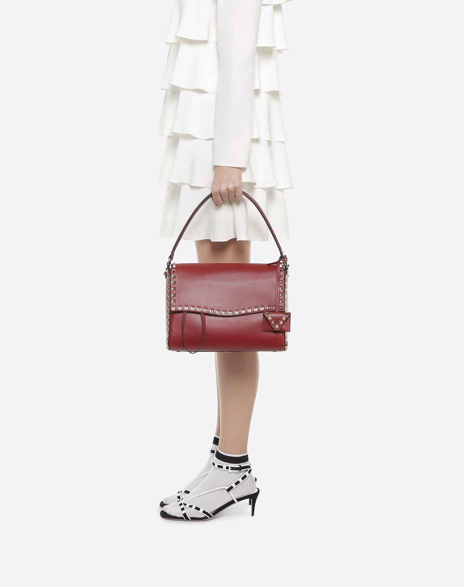 VALENTINO GARAVANI Rockstud Single Handle Bag HANDBAG D a