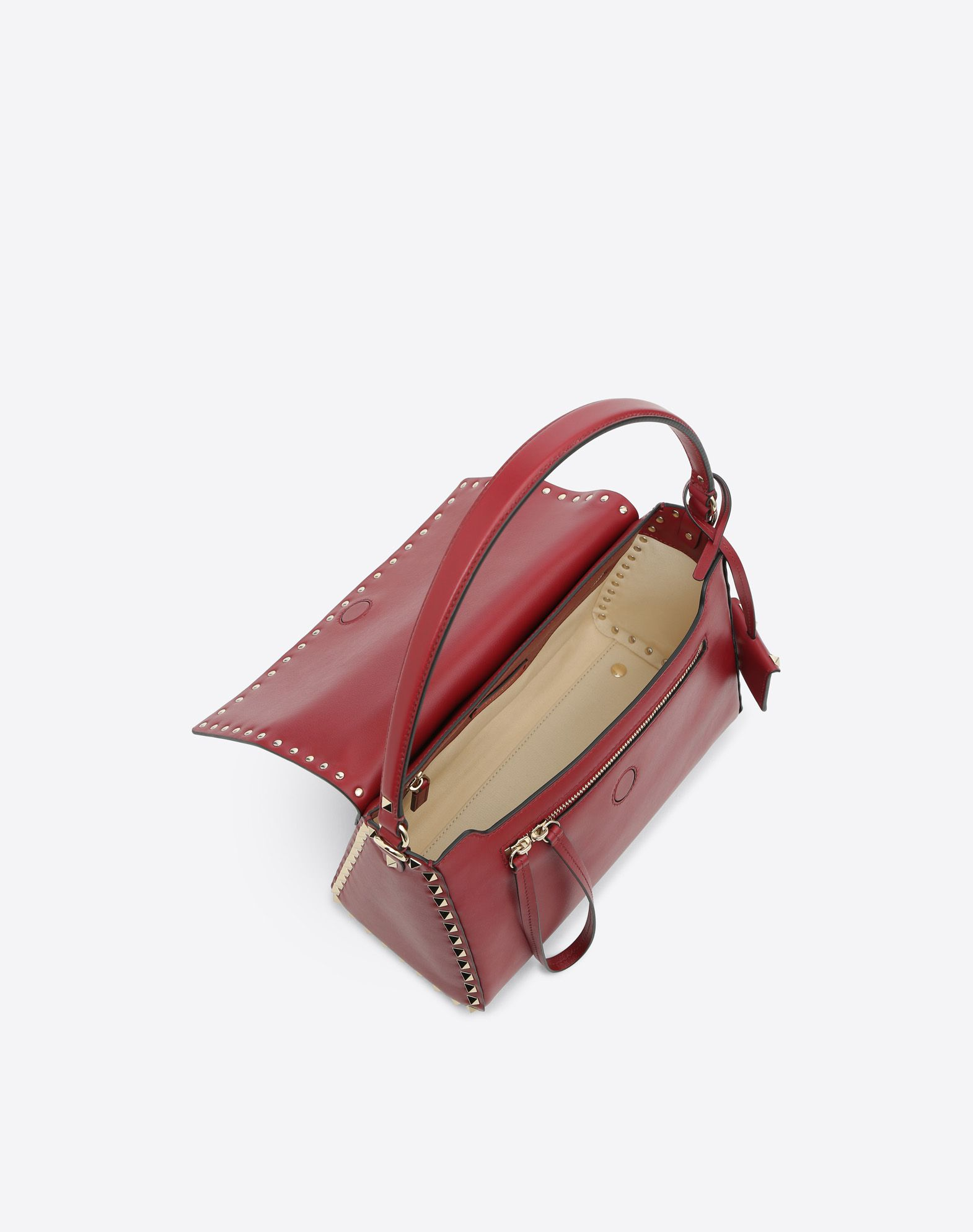 VALENTINO GARAVANI Rockstud Single Handle Bag HANDBAG D e