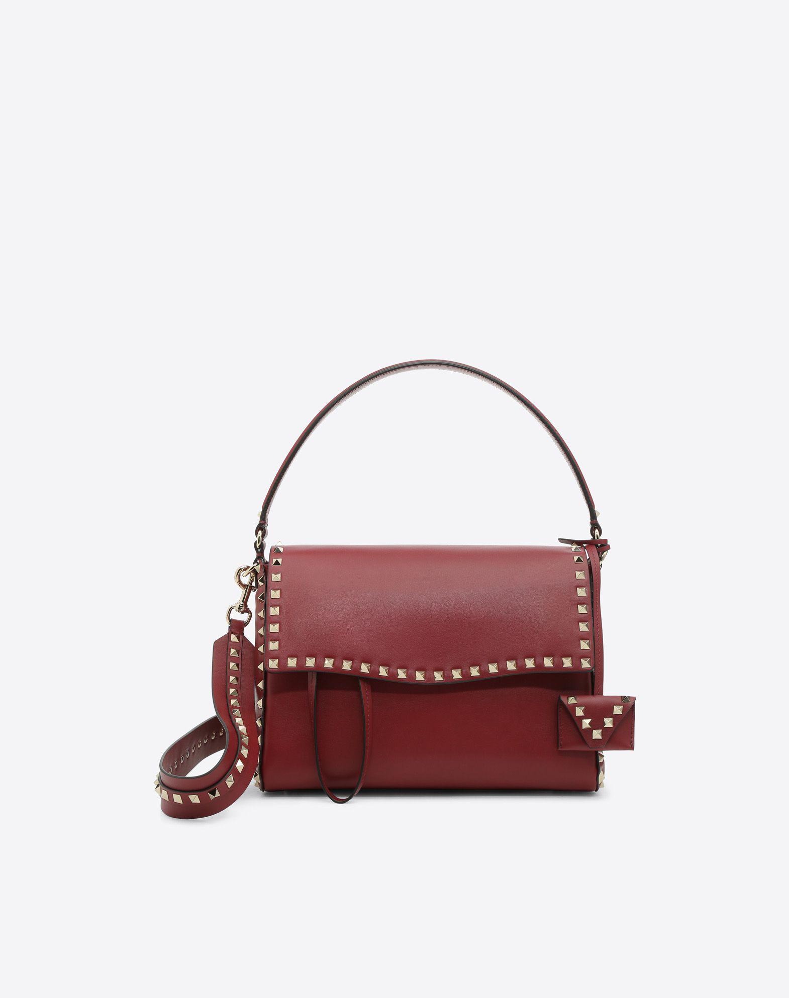 VALENTINO GARAVANI Rockstud Single Handle Bag HANDBAG D f