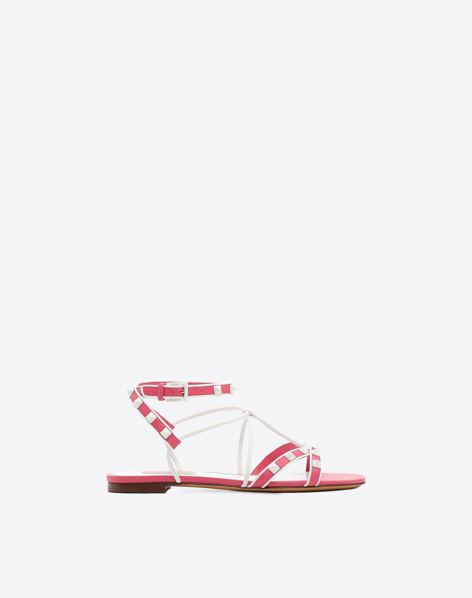VALENTINO GARAVANI Free Rockstud Flat Sandal FLAT SANDALS D f