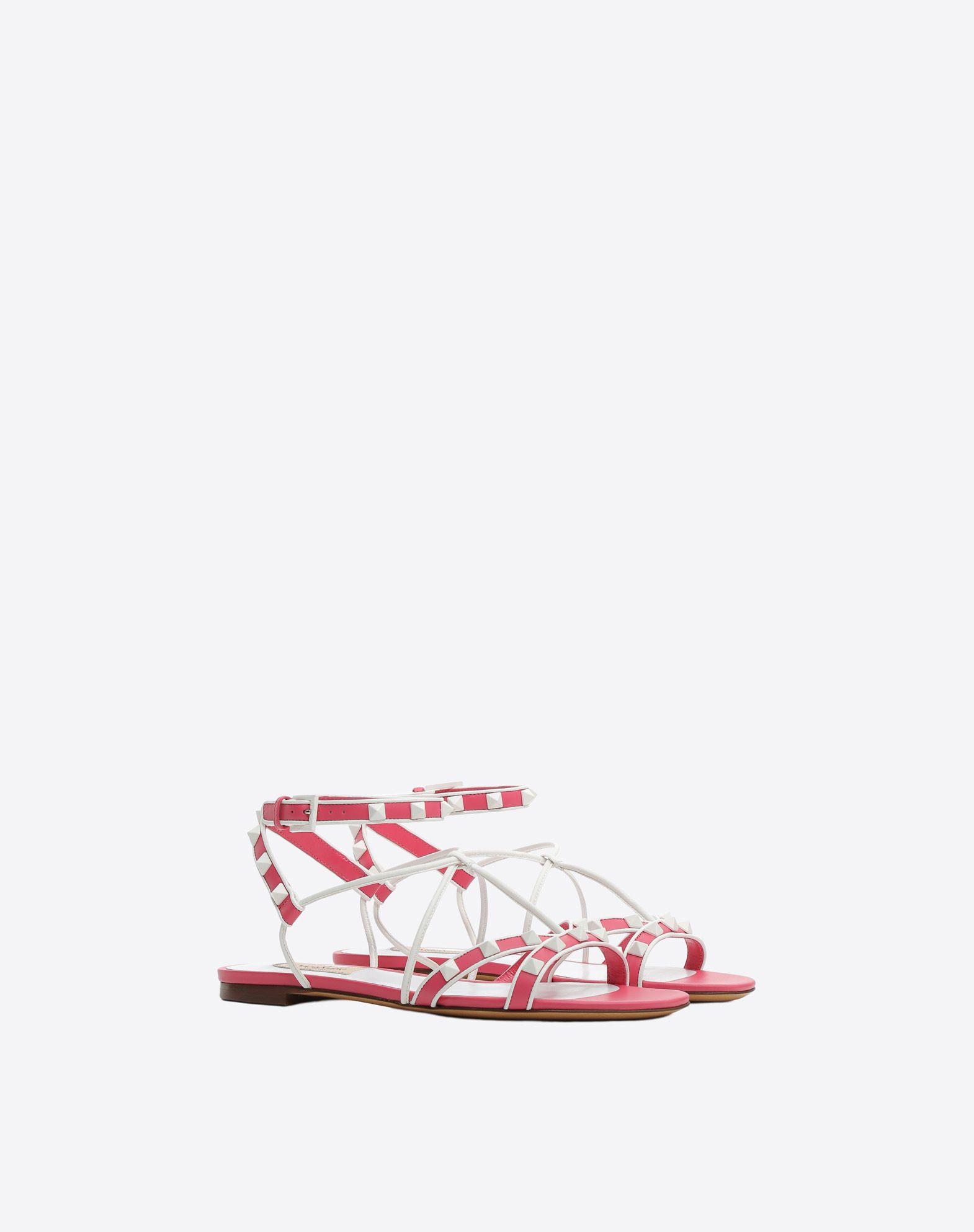 VALENTINO GARAVANI Free Rockstud Flat Sandal FLAT SANDALS D r