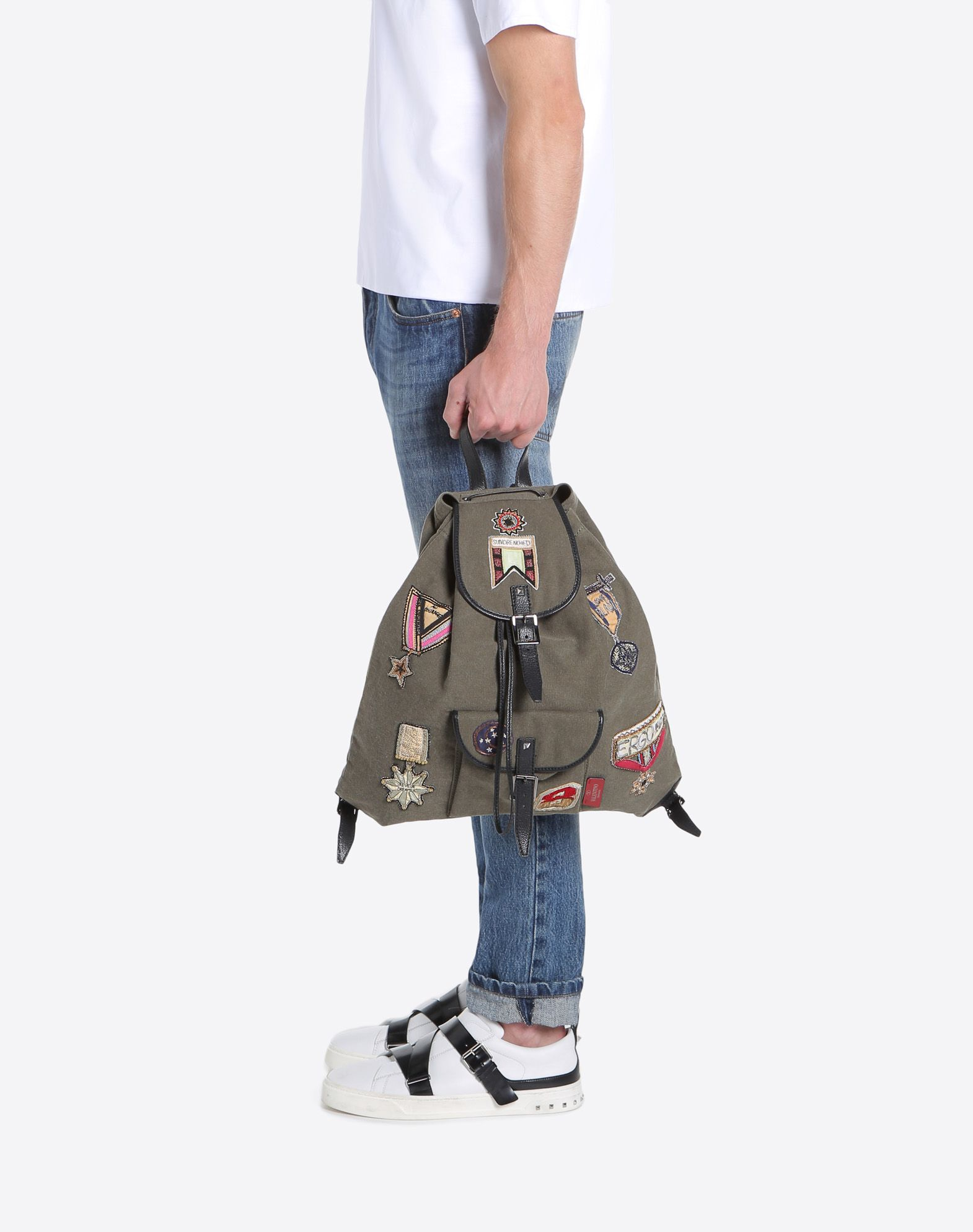 VALENTINO GARAVANI UOMO Embroidered Backpack Backpack U a