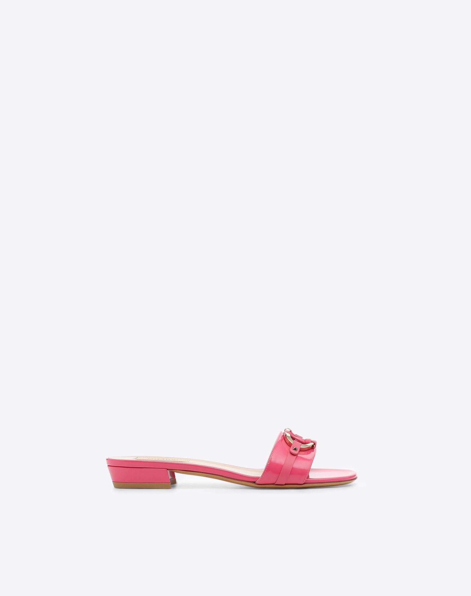 V-Rivet Slide Sandal, Pink