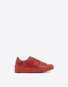 VALENTINO GARAVANI LOW-TOP SNEAKERS D Rockstud Untitled Rosso Sneaker f