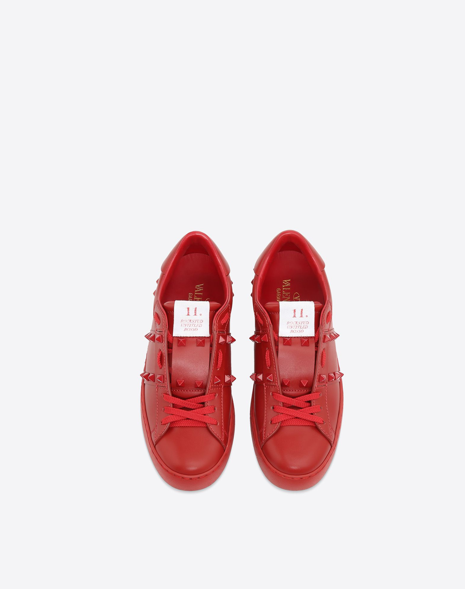 VALENTINO GARAVANI Rockstud Untitled Rosso Sneaker LOW-TOP SNEAKERS D e