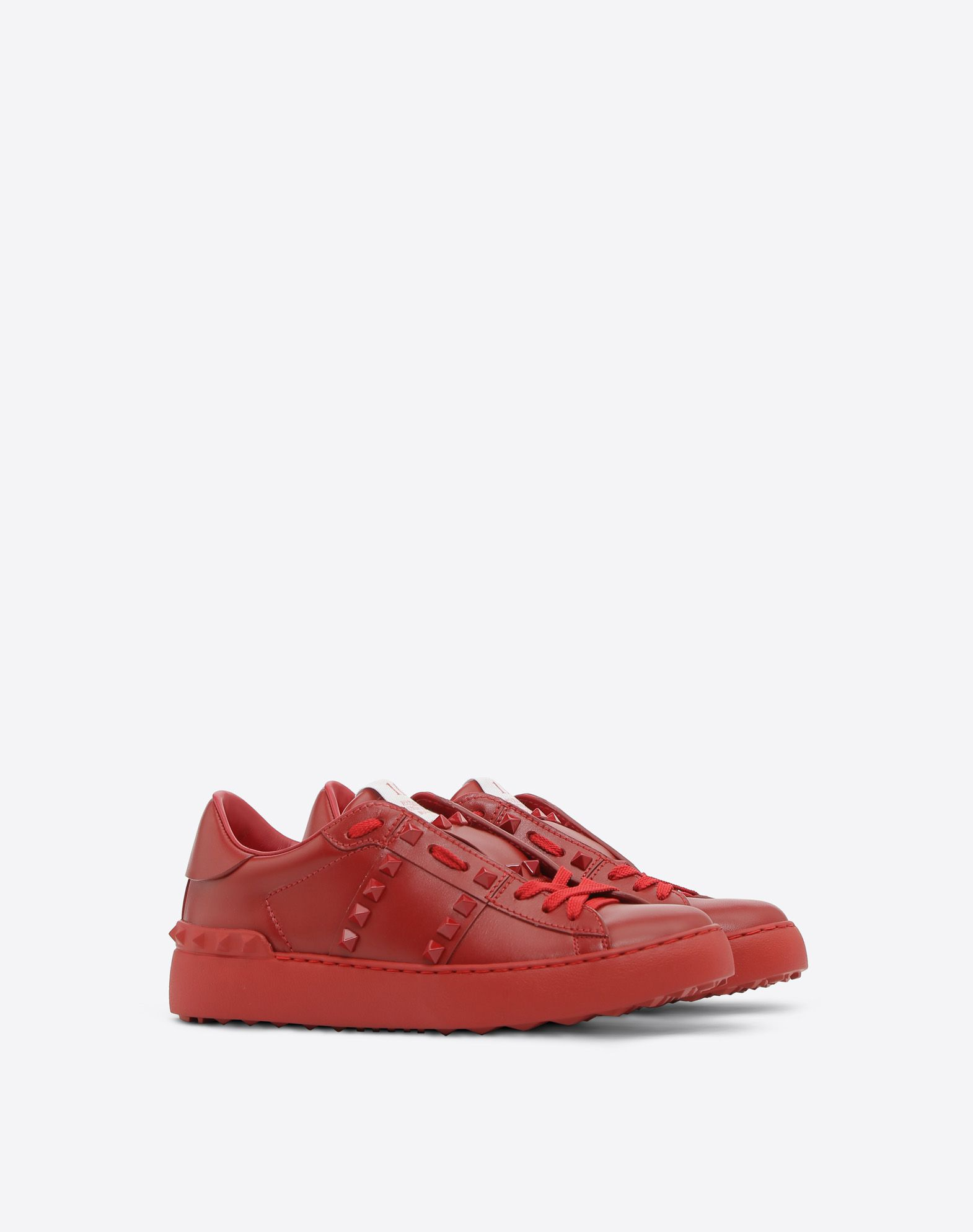 VALENTINO GARAVANI Rockstud Untitled Rosso Sneaker LOW-TOP SNEAKERS D r