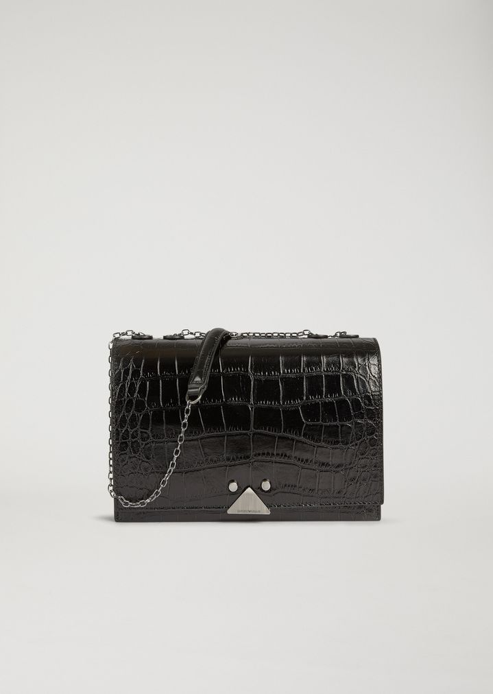 dcd96c351 Cross body bag in croc print leather | Woman | Emporio Armani