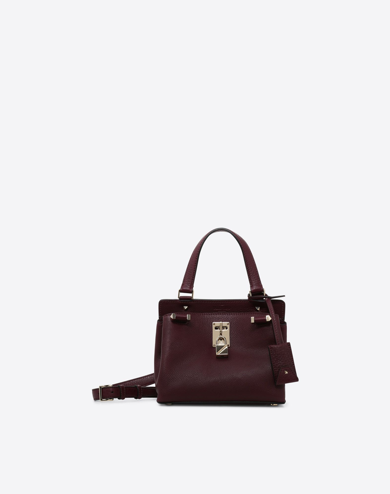 VALENTINO Textured leather Solid colour Framed closure Adjustable shoulder straps  45390012hh