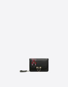 VALENTINO GARAVANI EVENING CLUTCH D Demilune Small Double Handle Bag f