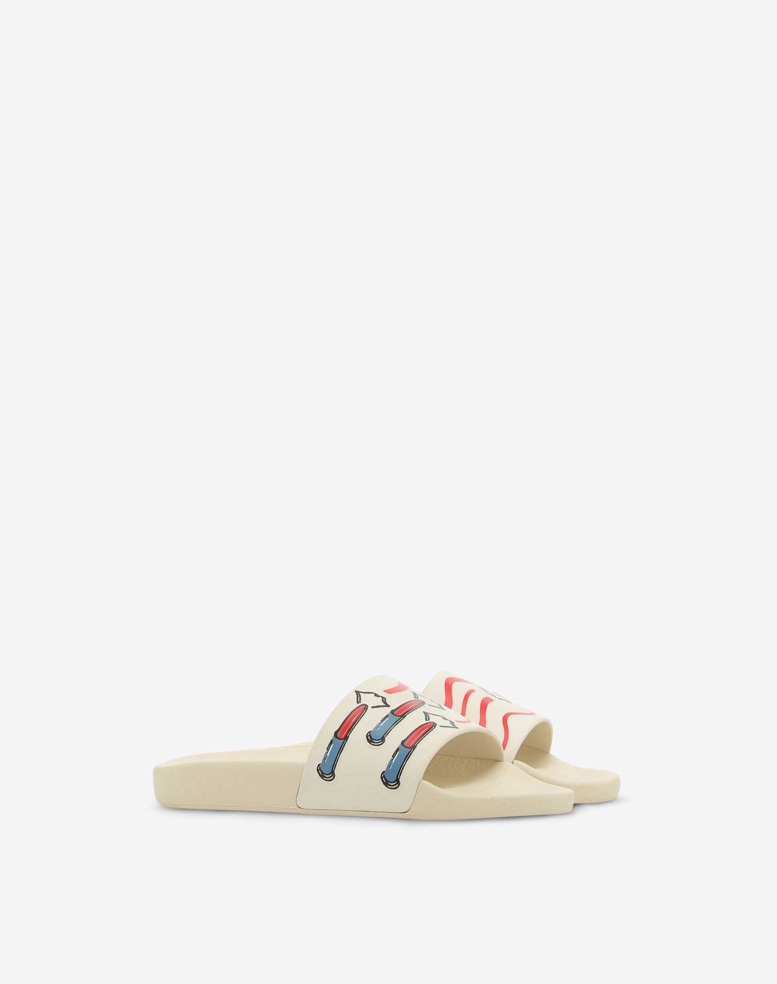 VALENTINO GARAVANI 口红印纹 PVC 拖鞋式凉鞋 拖鞋式凉鞋 D r
