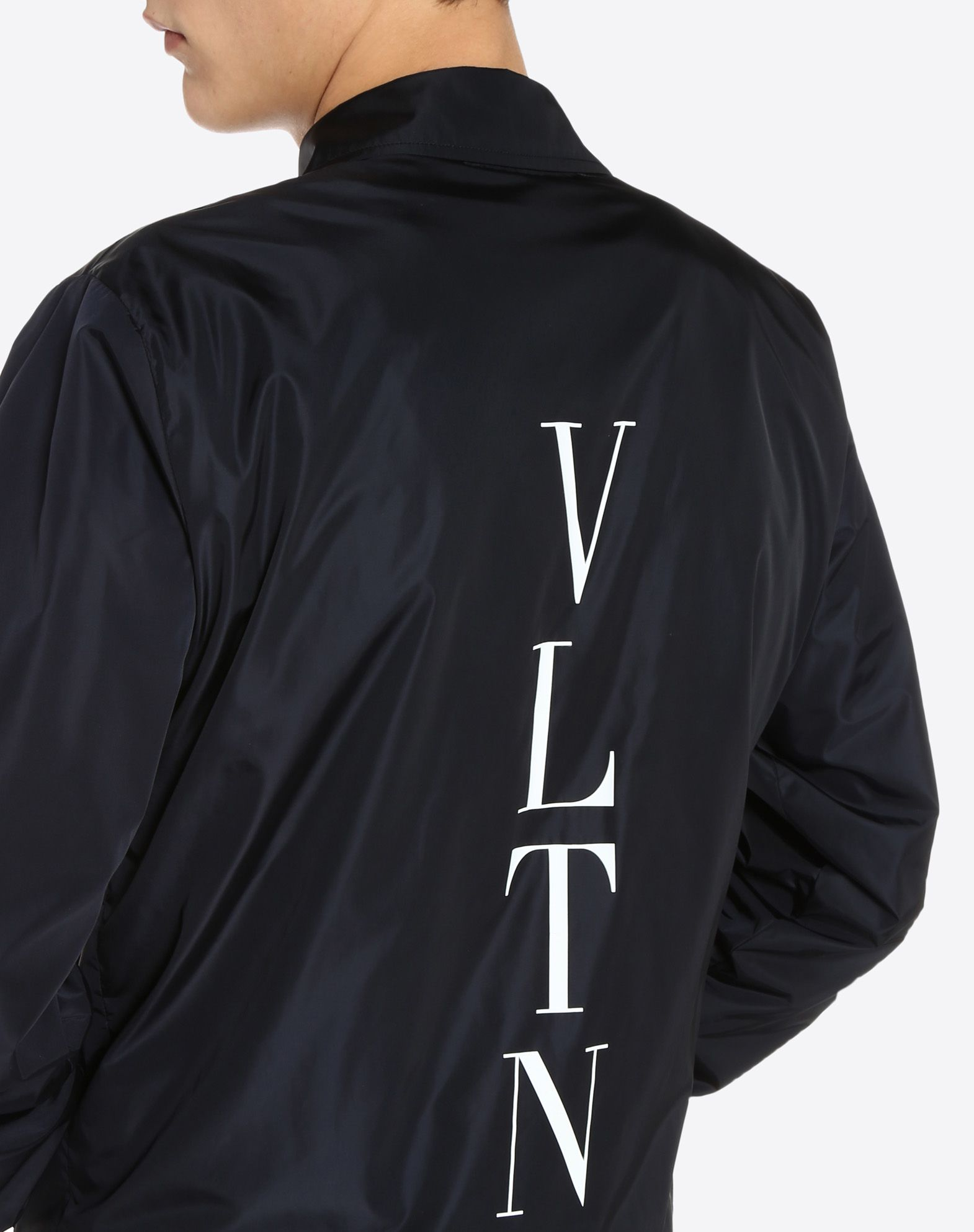 VALENTINO Techno fabric Basic solid colour Fully lined Long sleeves Two pockets One inside pocket Snap button closure  45390828pf