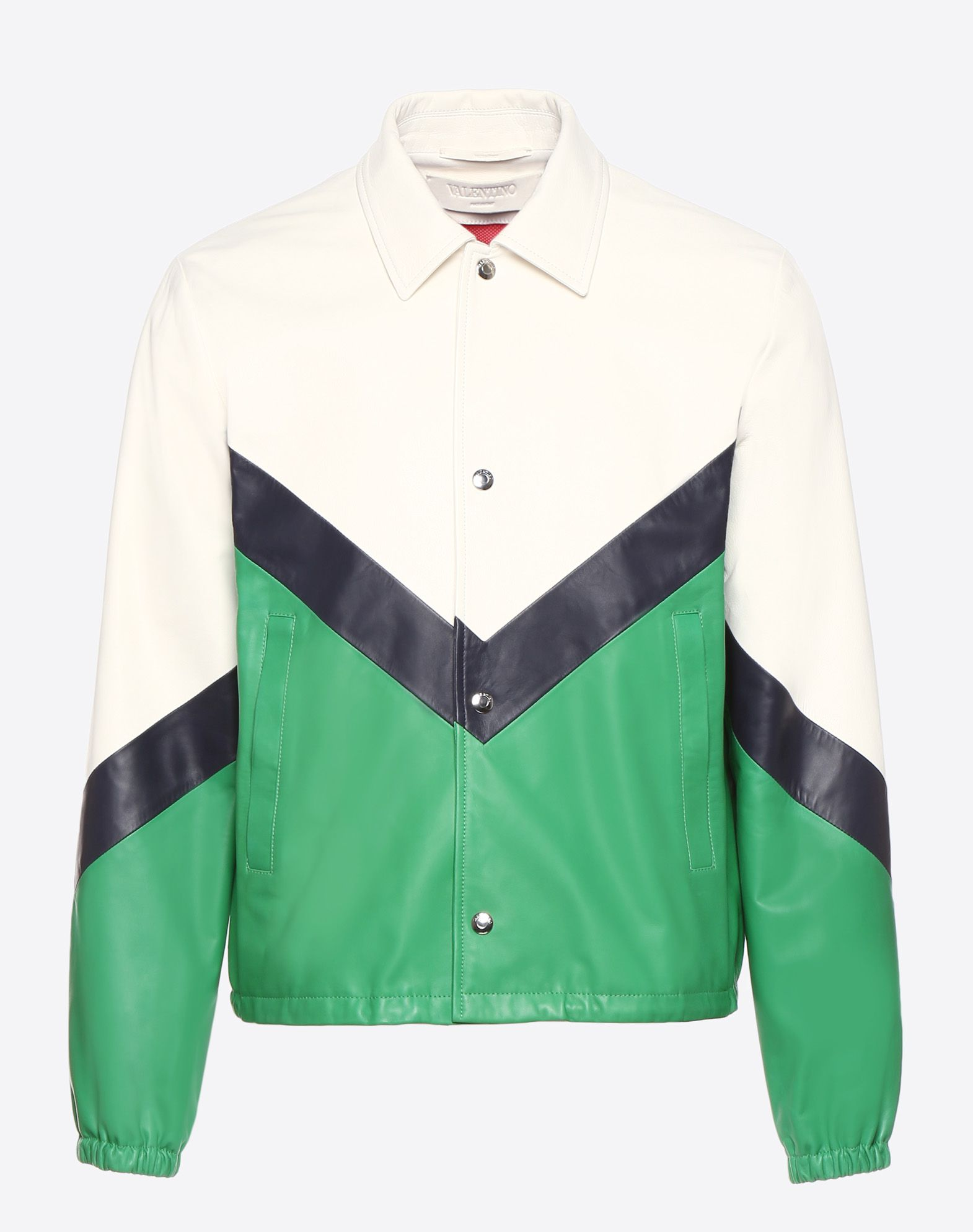 VALENTINO UOMO Leather coach jacket JACKET U f