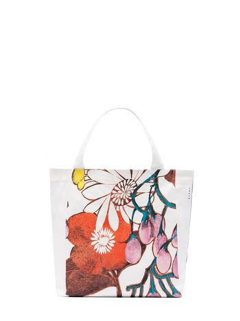 Marni BAG IN COTTON WITH MADDER FLOWER PRINT Woman