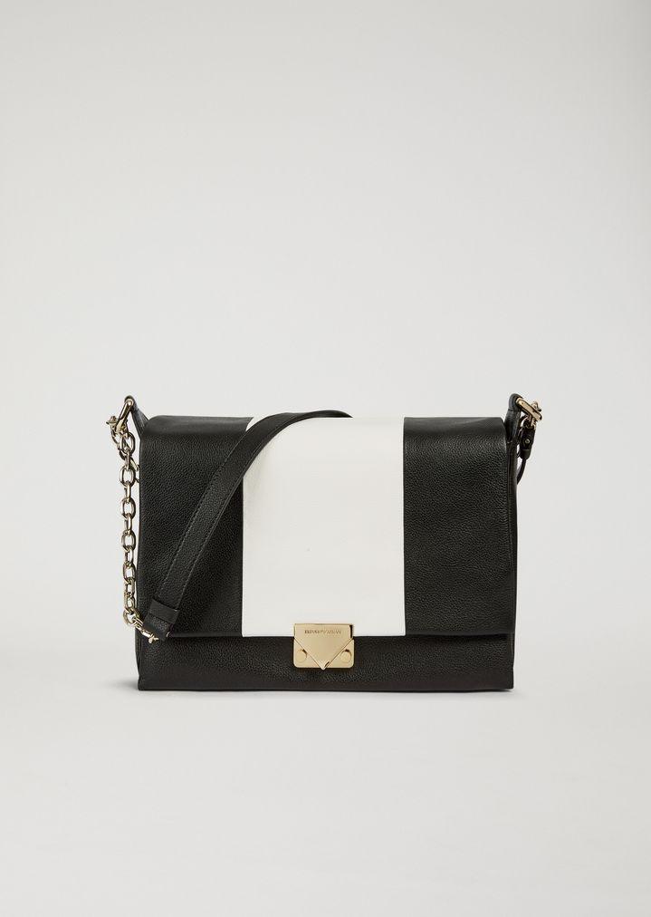 Cross body bag in two-colour leather   Woman   Emporio Armani f91a0a6562