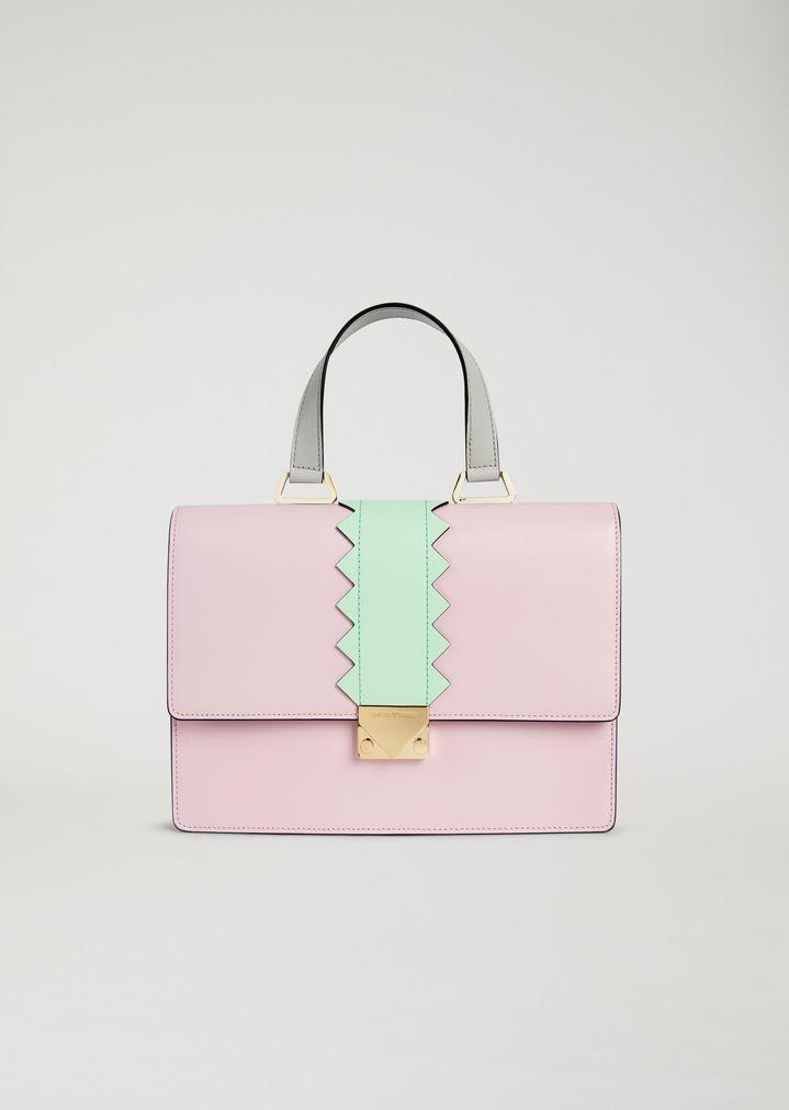 Handbag in smooth leather  74fae81f19ac7