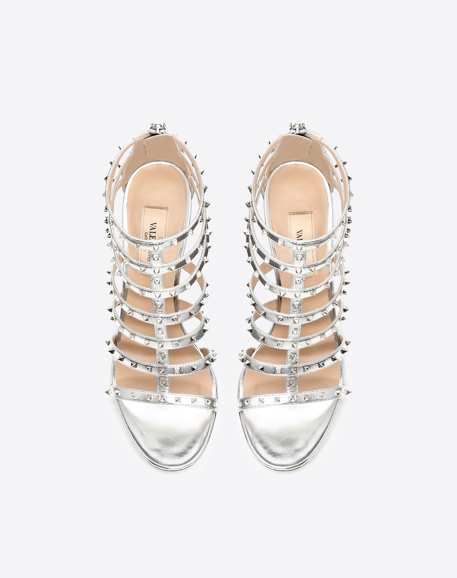 VALENTINO GARAVANI Lovestud 90mm cage Sandal HIGH HEEL SANDALS D e