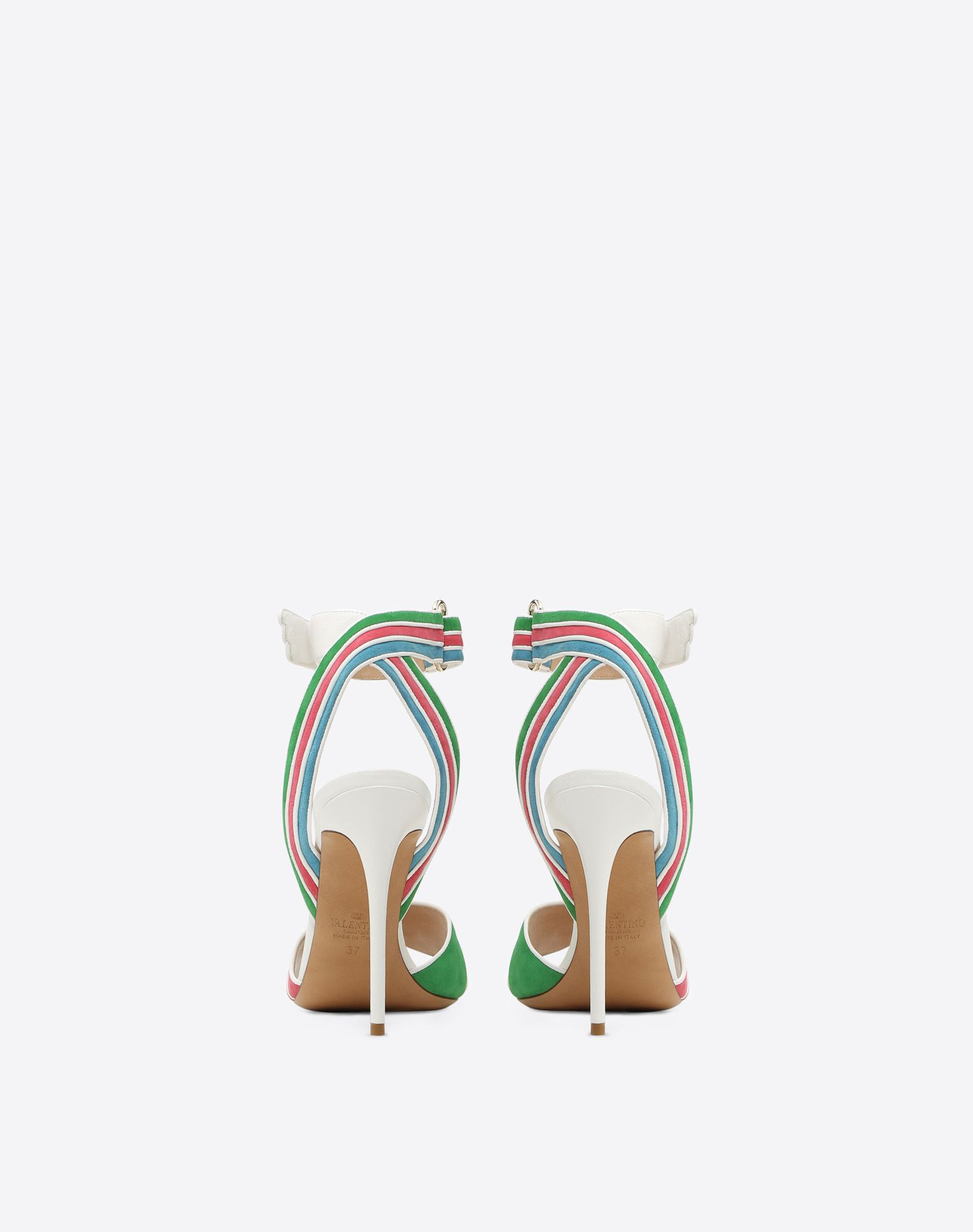 VALENTINO GARAVANI Multi-color suede 105mm Sandal HIGH HEEL SANDALS D d