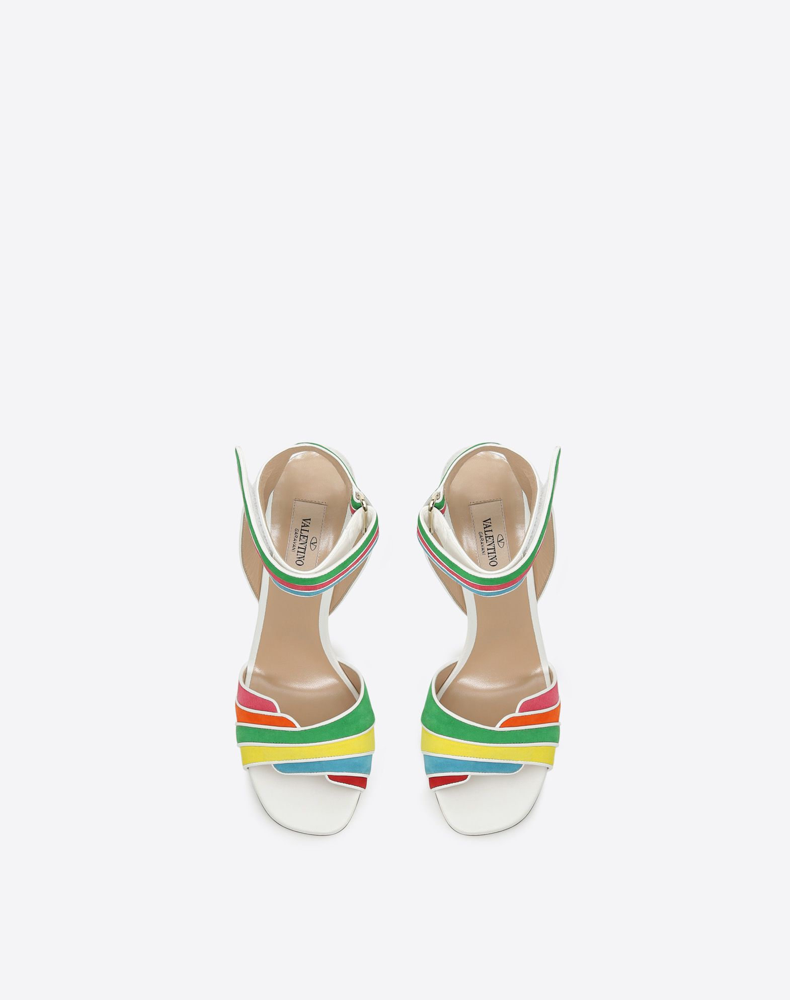 VALENTINO GARAVANI Multi-color suede 105mm Sandal HIGH HEEL SANDALS D e