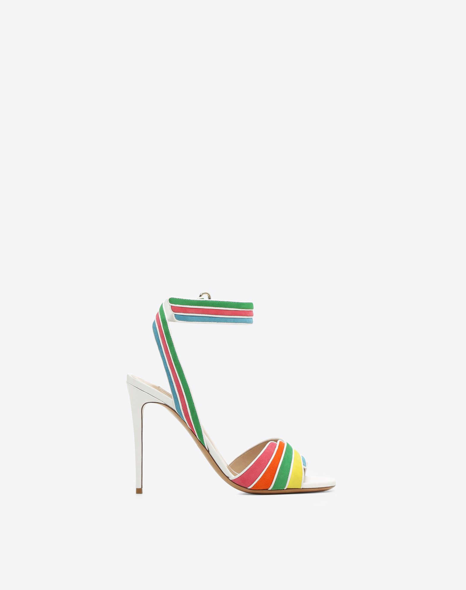 VALENTINO GARAVANI Multi-color suede 105mm Sandal HIGH HEEL SANDALS D f