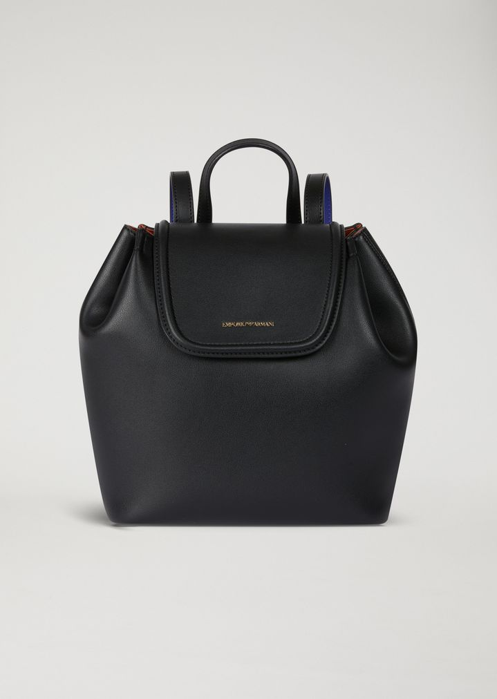 Sac à dos en simili cuir avec bords contrastants   Femme   Emporio Armani de10ff4d98b