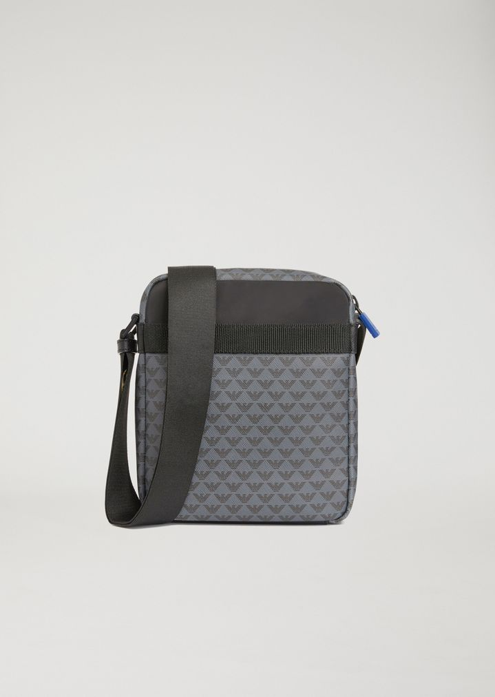 logo changing bag - Grey Emporio Armani