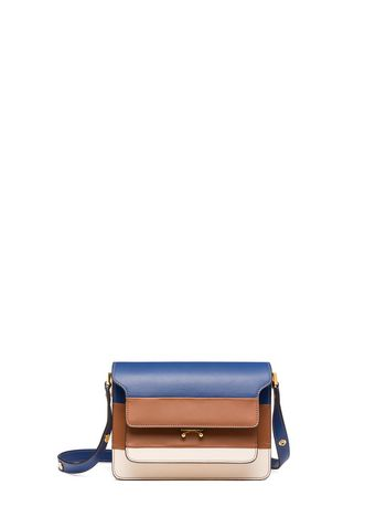 Marni Tri-coloured TRUNK bag in leather  Woman