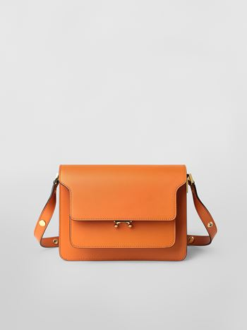 Marni TRUNK bag in Saffiano leather orange Woman