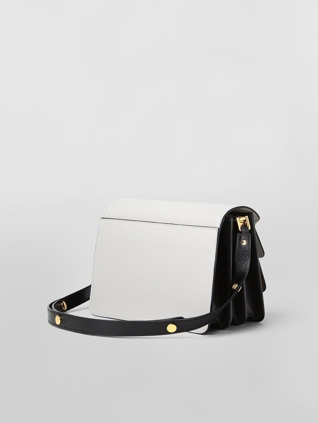 Marni TRUNK bag in gray, brown and black saffiano calfskin  Woman