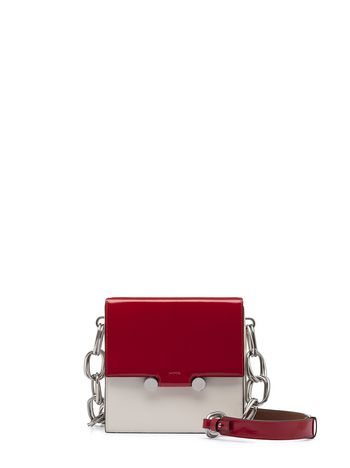 Marni CADDY shoulder bag in shiny leather Woman