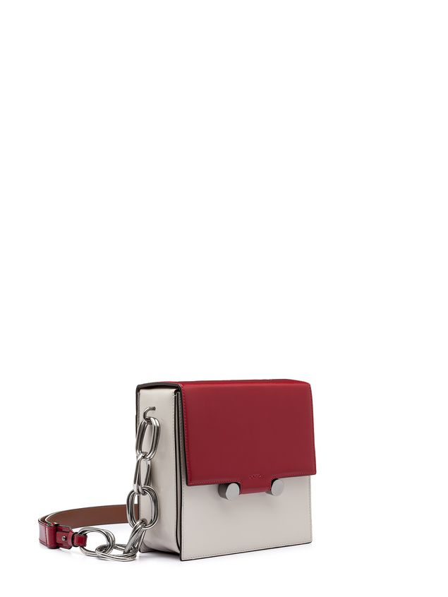 Marni CADDY shoulder bag in glossy leather Woman - 2