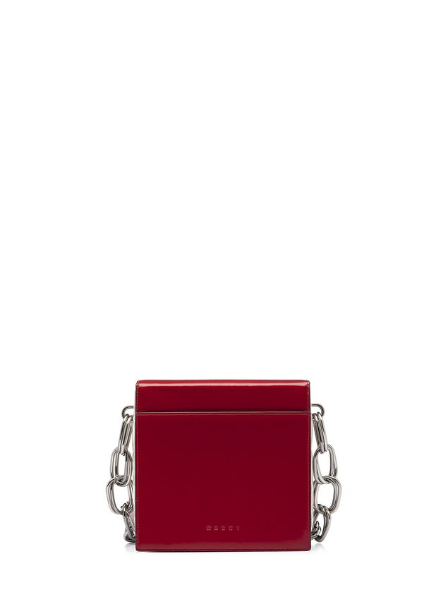 Marni CADDY shoulder bag in glossy leather Woman - 3
