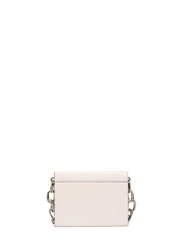 Marni CADDY shoulder bag in beige and yellow glossy leather Woman - 3