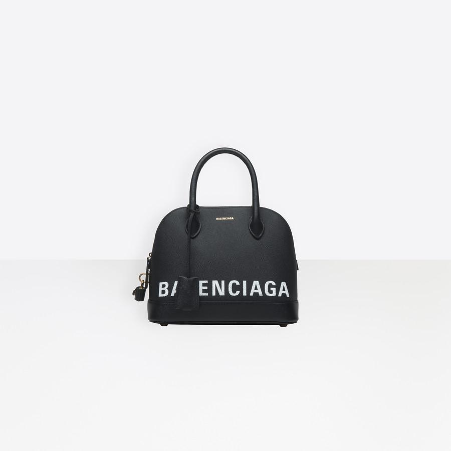 eac760836 Ville Top Handle S BLACK / WHITE for Women | Balenciaga