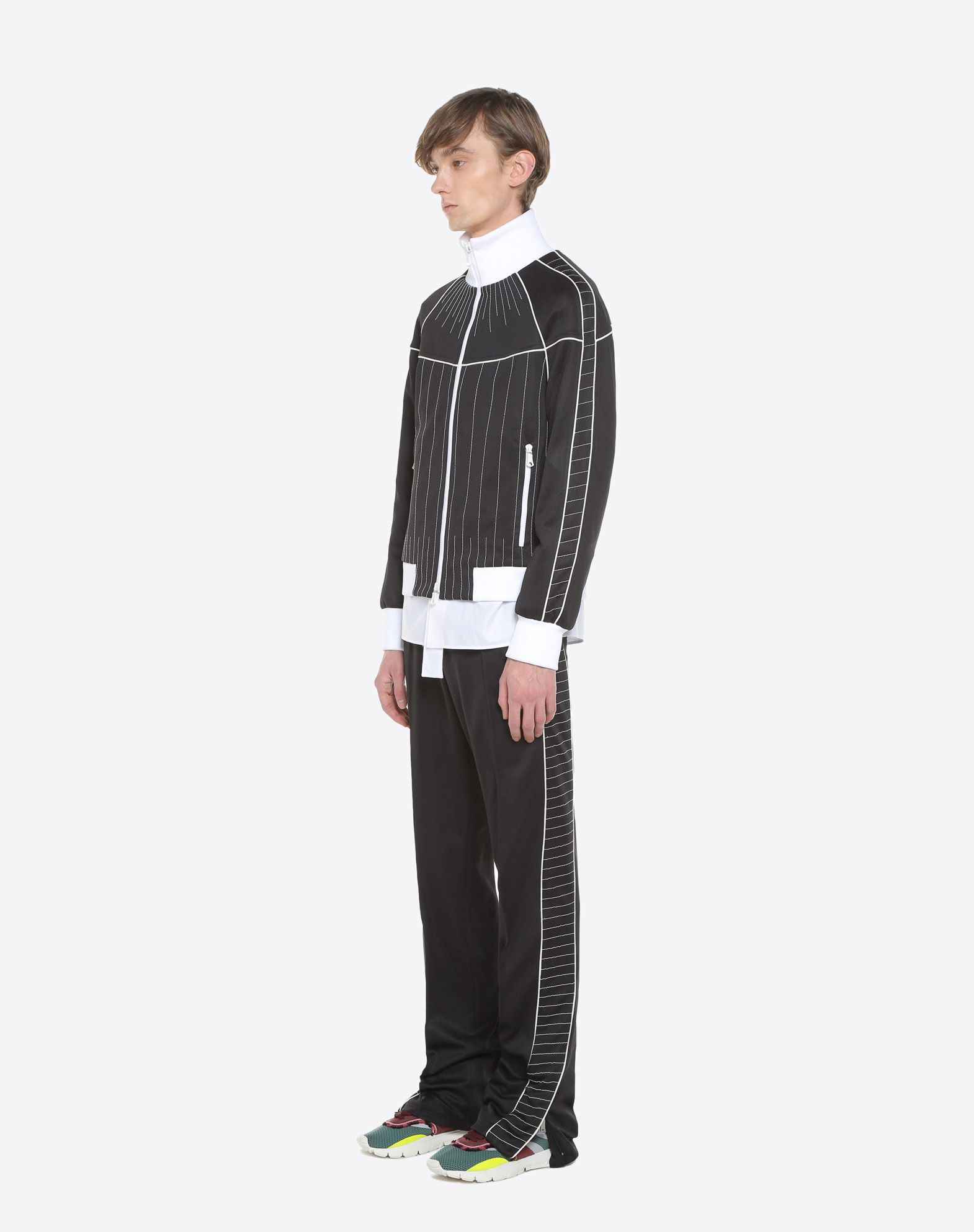 VALENTINO UOMO Trousers with embroidered bands Trousers U d