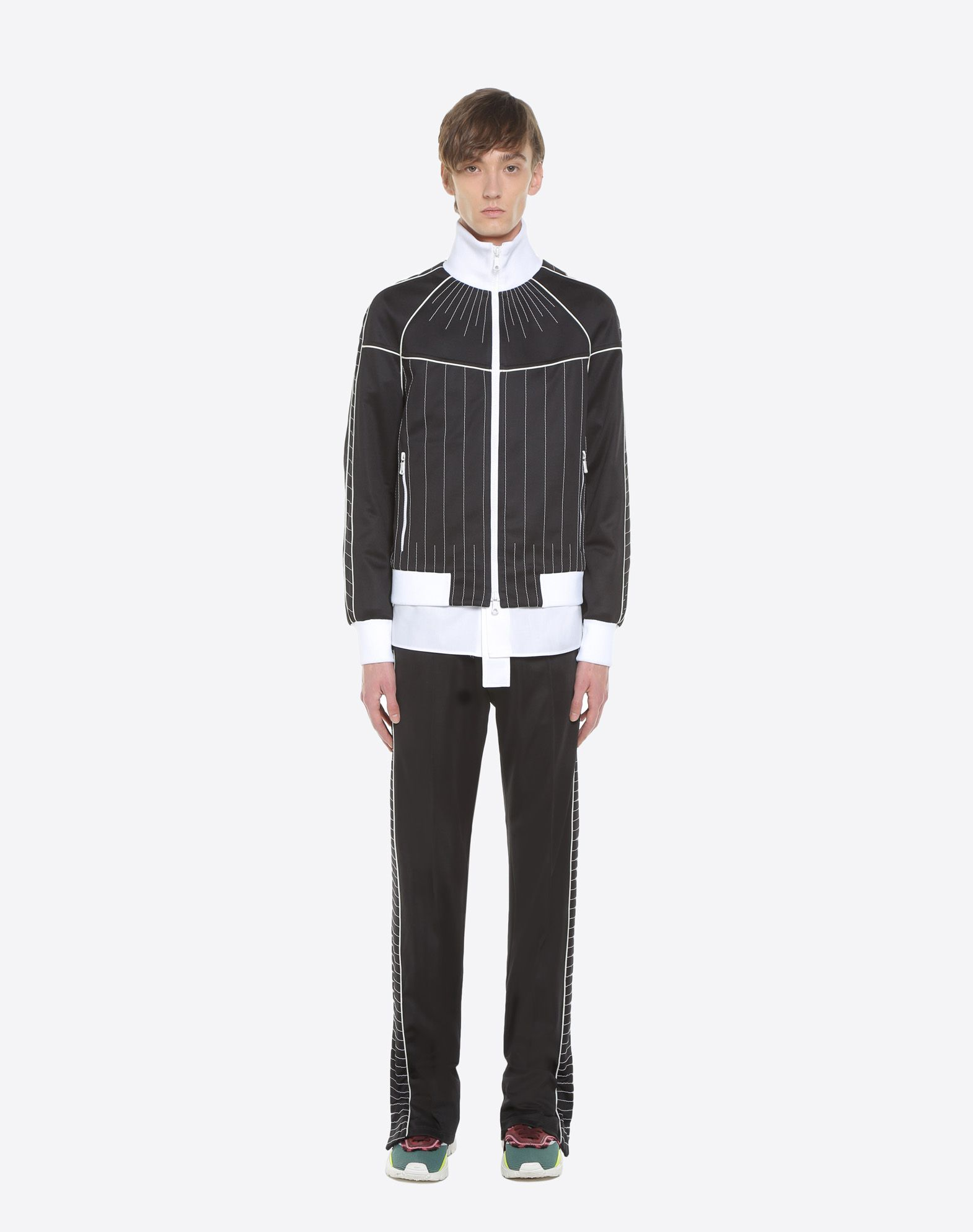 VALENTINO UOMO Trousers with embroidered bands Trousers U r