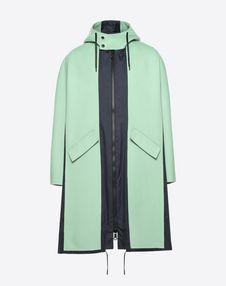VALENTINO UOMO COAT U Long double wool cloth and nylon parka f