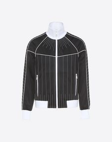 VALENTINO UOMO JACKET U Blouson with stitching and beads f